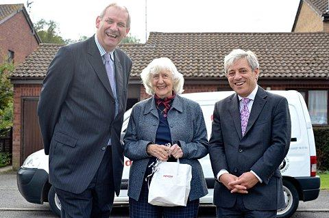 Carl Etholen, Irene Simpson and John Bercow