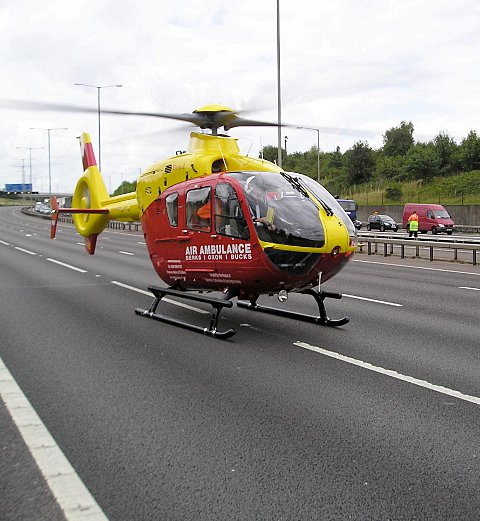 Air Ambulance at A404 crash