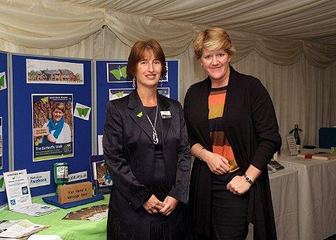 South Bucks Hospice Appeals Manager Karen Cross and Clare Balding