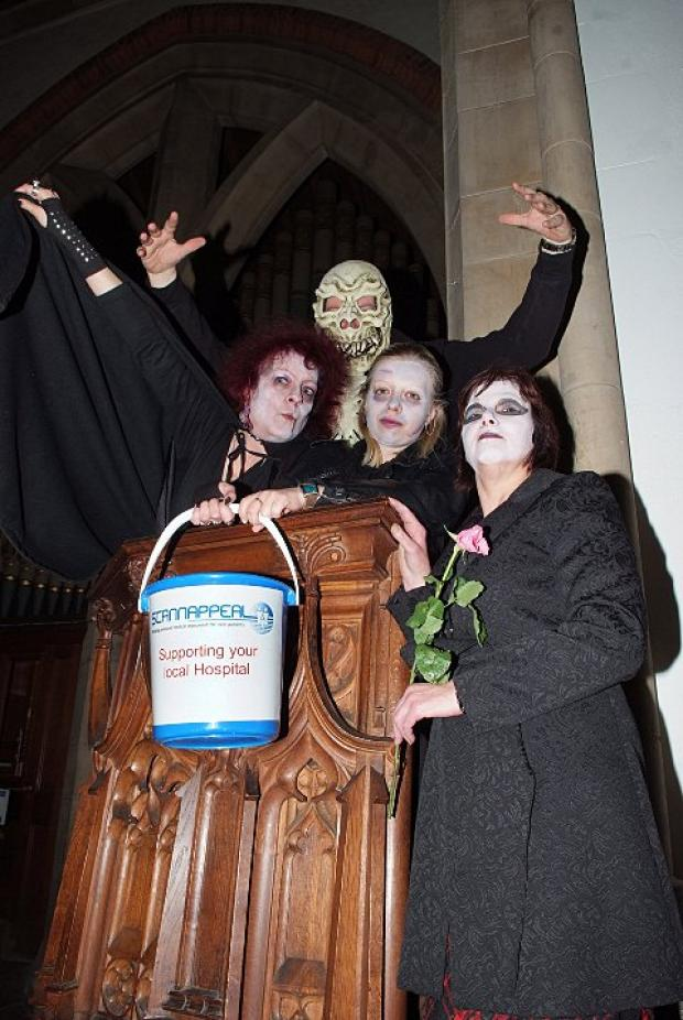 Ghoulish fundraisers nab cash for Scannappeal