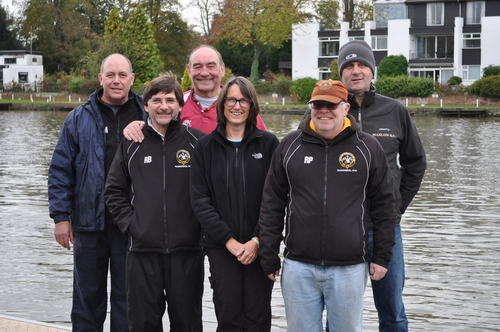 HONOURED: Marlow Rowing Club's junior coaches are (back l-r) Simon Napier-Munn, Colin Picton, Bret King (front l-r) Ray Bedder, Carrie Collerton, Russell Peacock