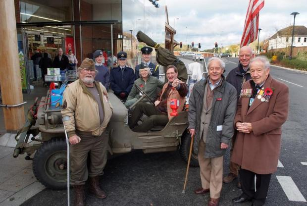 Grieve jumps into jeep for village Poppy launch