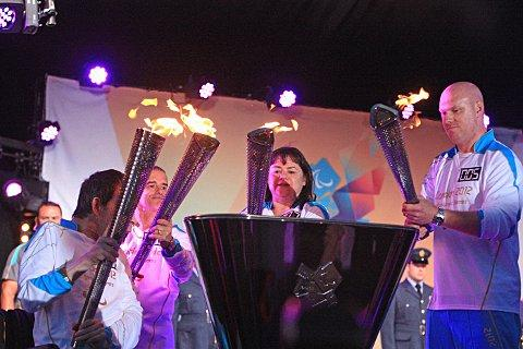 The Paralympic flame is lit at Stoke Mandeville in August