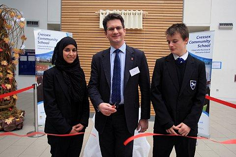 Cressex Community School 'officially opened' by MP