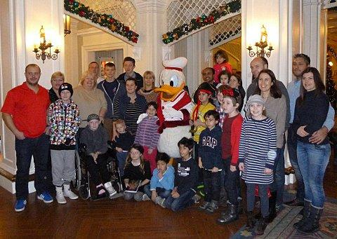 Festive Disneyland treat for seriously ill children