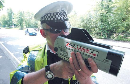 File photo of a speed gun