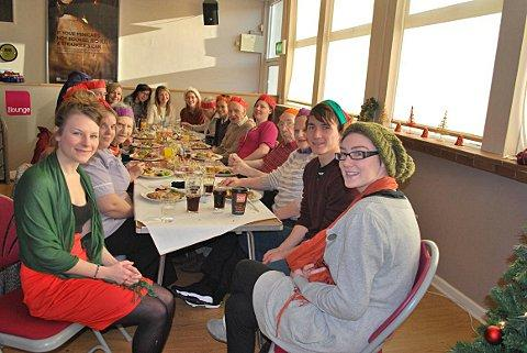 Students treat care home residents to Christmas lunch