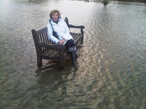 Marlow Mayor Jocelyn Towns in Gossmore Park this afternoon