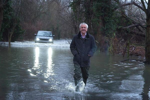 Floods in Marlow on Friday