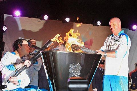 The lighting of the Paralympic flame in 2012