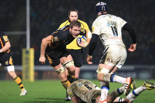 Joe Launchbury helped Wasps to another win yesterday
