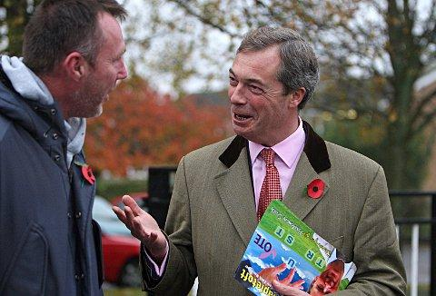 Nigel Farage in Hazlemere during a 2011 election campaign