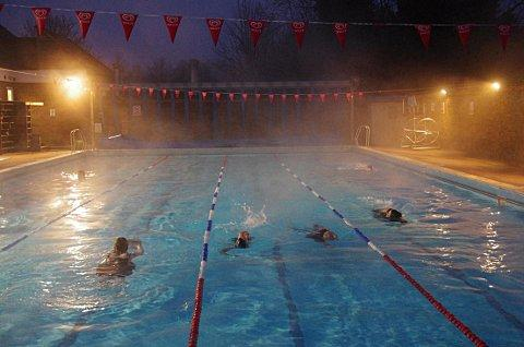 Early morning swimmers take a dip on Thursday. Photo courtesy of Chesham Moor Gym and Swim