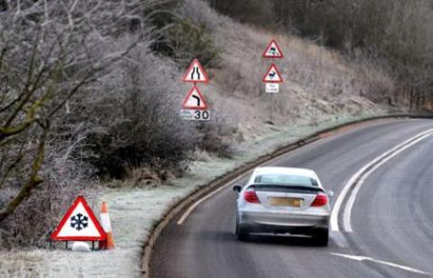 Roads warning as weather turns cold