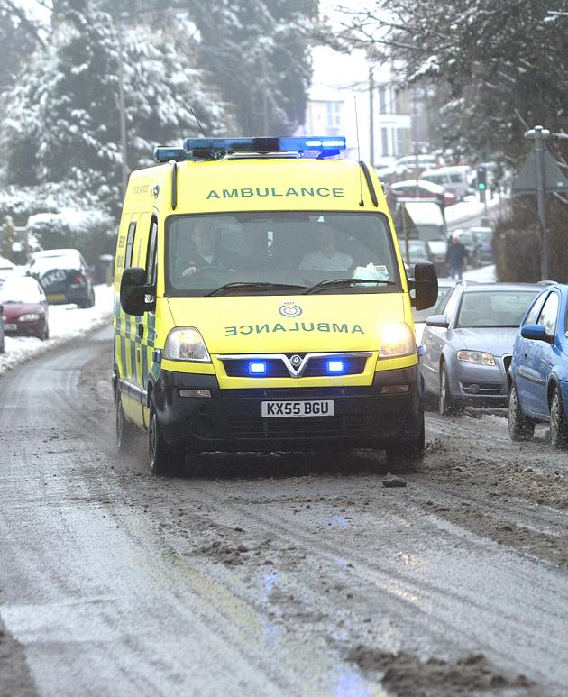 Ambulance service says 'Stay at home'