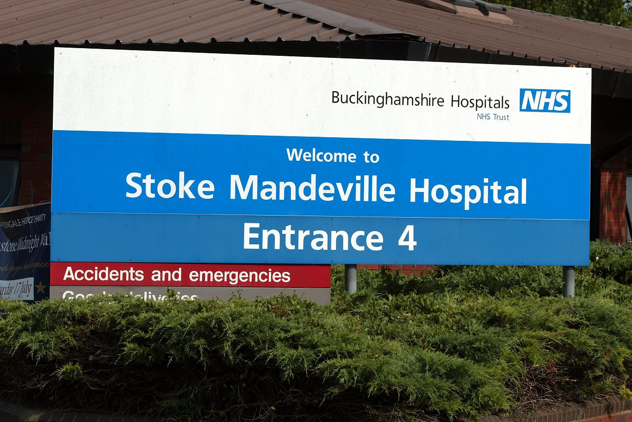Flooding closes road to Stoke Mandeville hospital