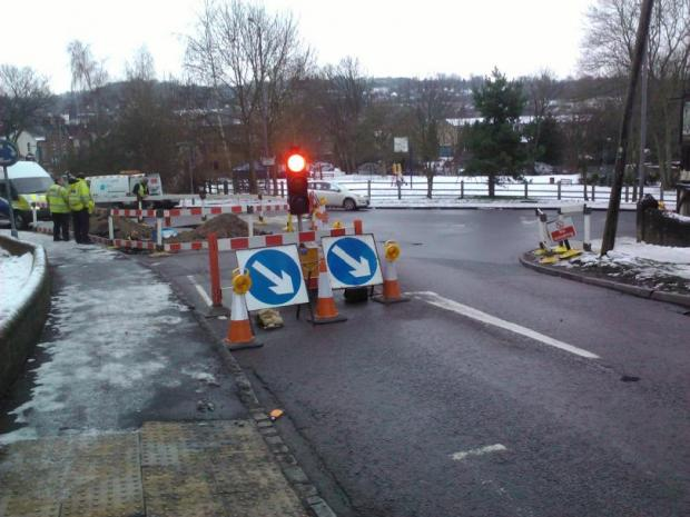 Gas leak causes long delays