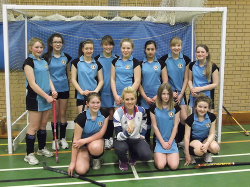 Alex Danson gave a hockey masterclass at Wycombe High School on Monday