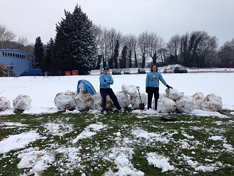 Training ground problem snow joke for Gaz