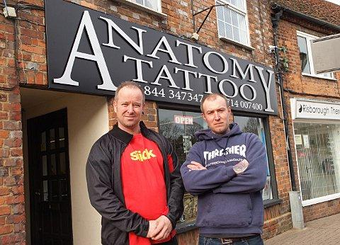 Gary Johnson (owner) and Will Burgess (tattooist)