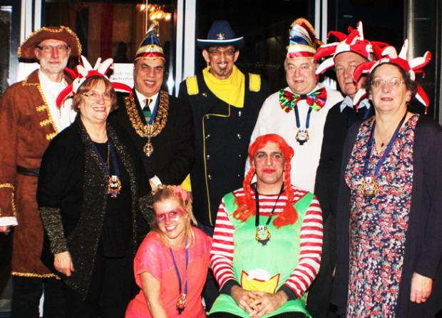 Dignitaries get into the carnival spirit at Wycombe's twin town