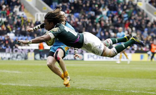 Marland Yarde dives over to win it for London Irish