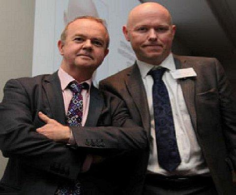 Editor of Private Eye, Ian Hislop and Stephen Wright