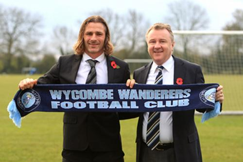 Wanderers manager and chairman Gareth Ainsworth and Don Woodward