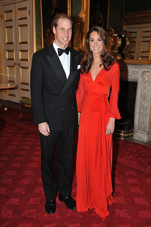 The Duke and Duchess of Cambridge at the gala in 2011
