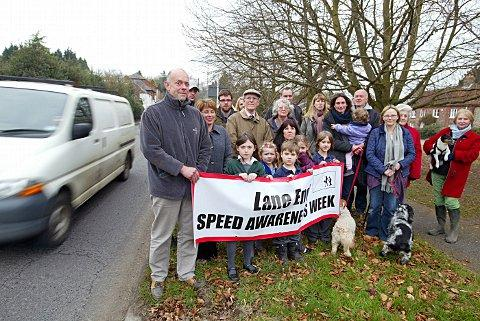 Speeding drivers cause villagers to fear for children's safety