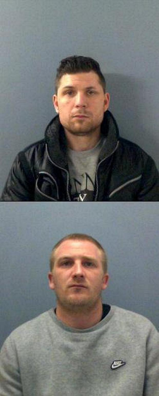 Jailed: Dominic Zammit (top) and Jason Edwards