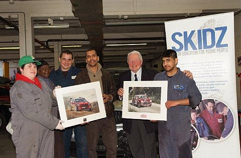 Paddy Hopkirk donates artwork to High Wycombe charity