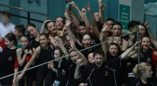Amersham Swimming Club celebrate another Thames Valley League victory