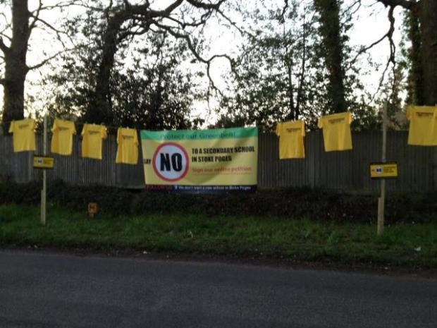 The silent protest near the proposed school site