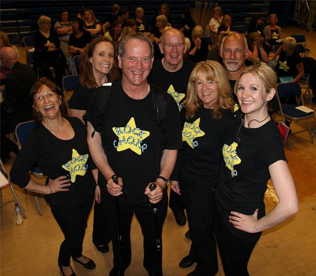 Bucks Free Press: David with some of his choral colleagues ahead of the trek