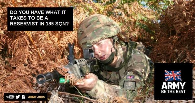 Army Reserve open evening in Wycombe tonight