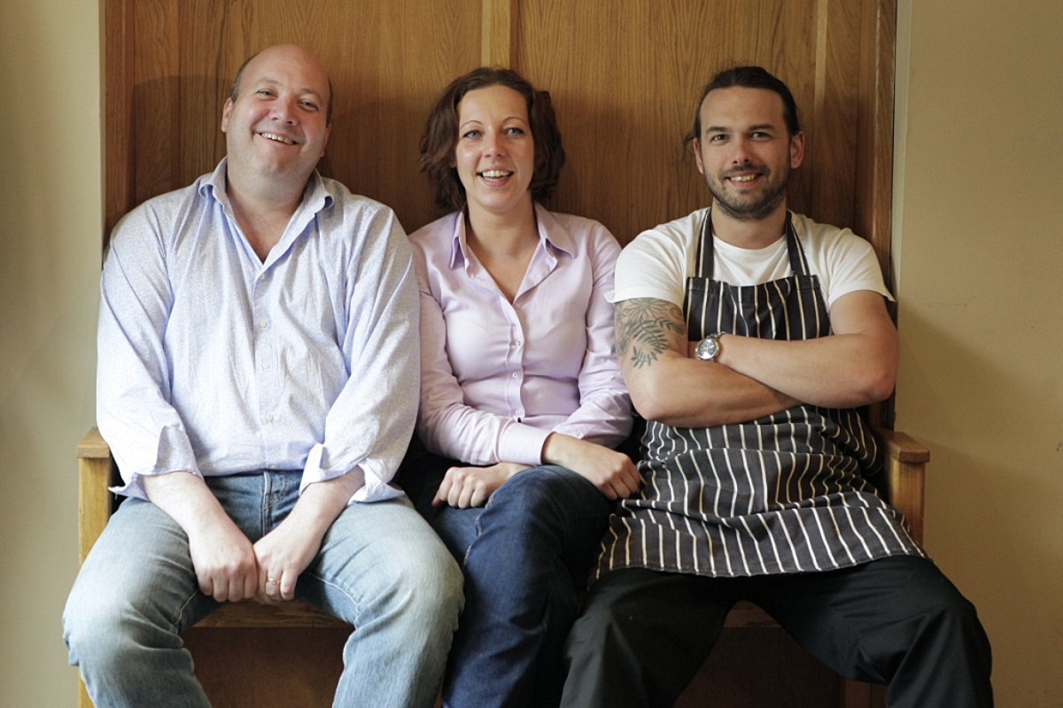 Frazer Sutherland, Evelin Rae and Tom Upham from The Thatch in Thame