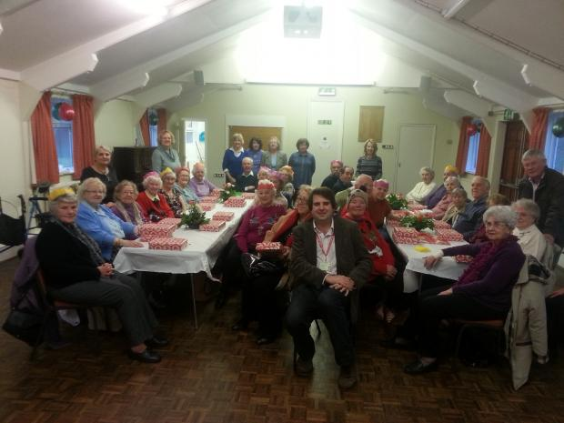 The Little Chalfont Good Companions Older People's Group Christmas celebration