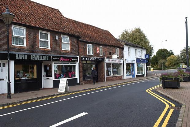 A photo of Duke Street from October 2012, which shows Risborough Gallery