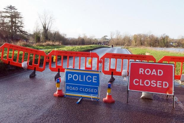 Firefighters warned motorists not to ignore road closure or diversion notices