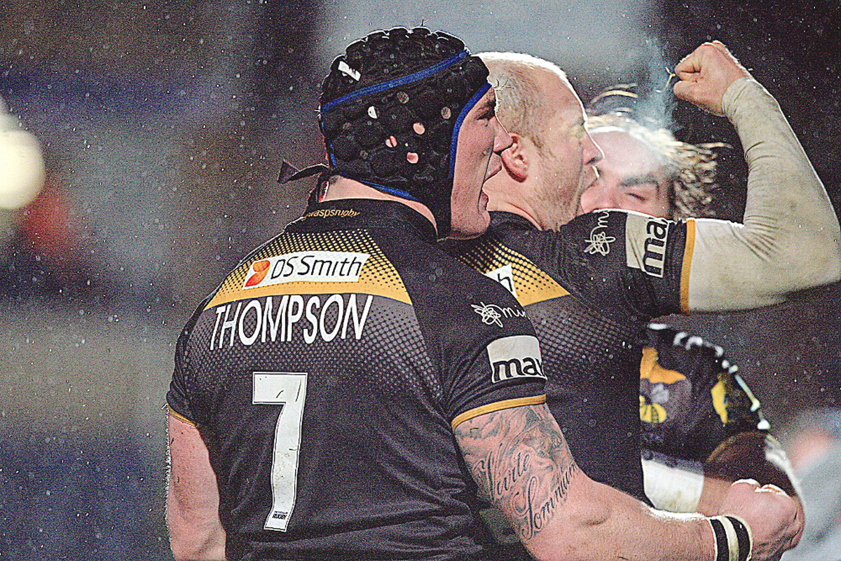 Wasps scored three tries against Saracens