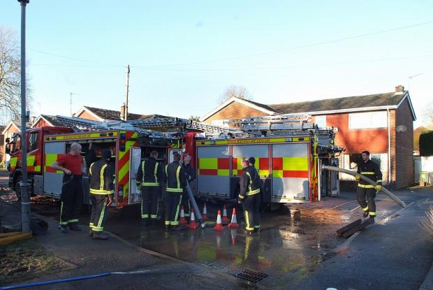 Firefighters during the five day operation in Marlow this week.