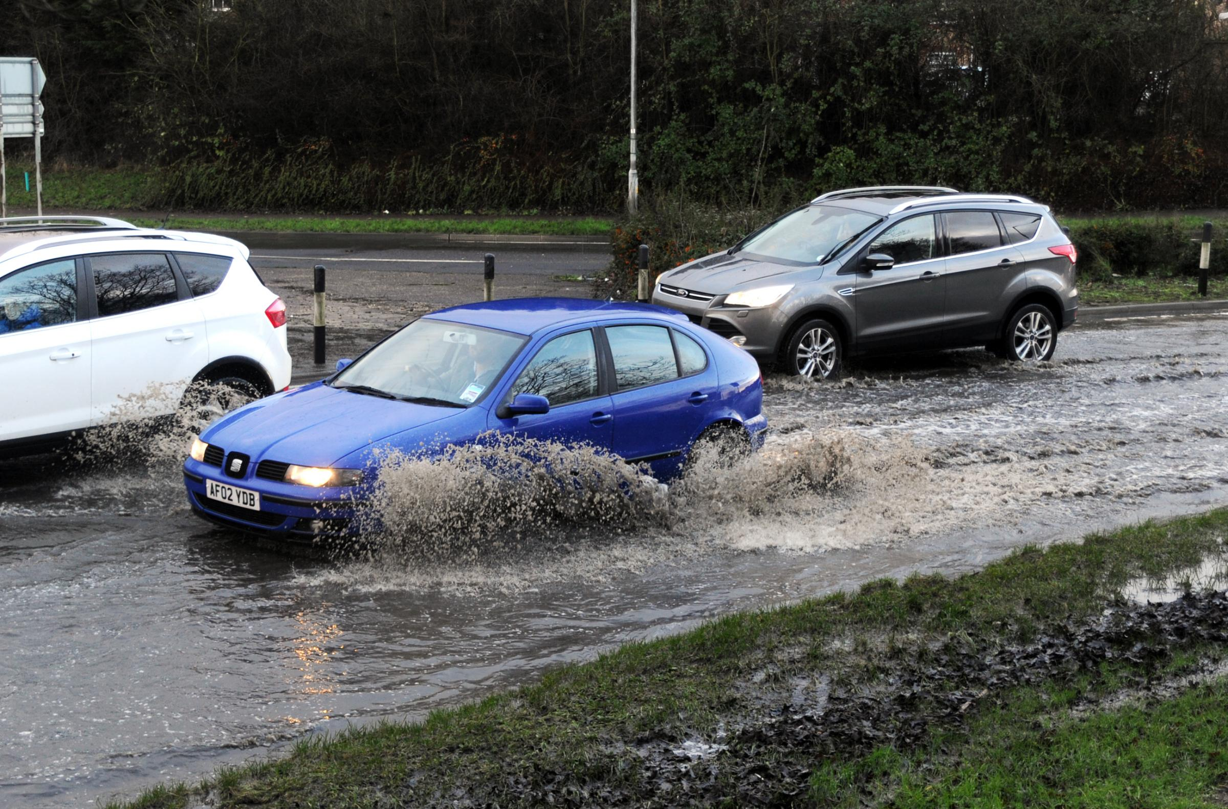 Floodwater causes havoc across south Bucks