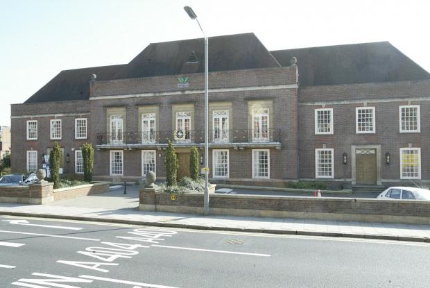Wycombe District Council offices. The application has gone to WDC.