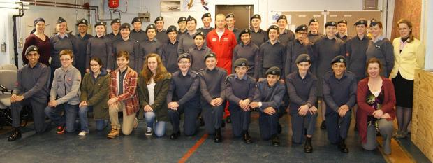 Red Arrows officer returns to High Wycombe cadet squadron