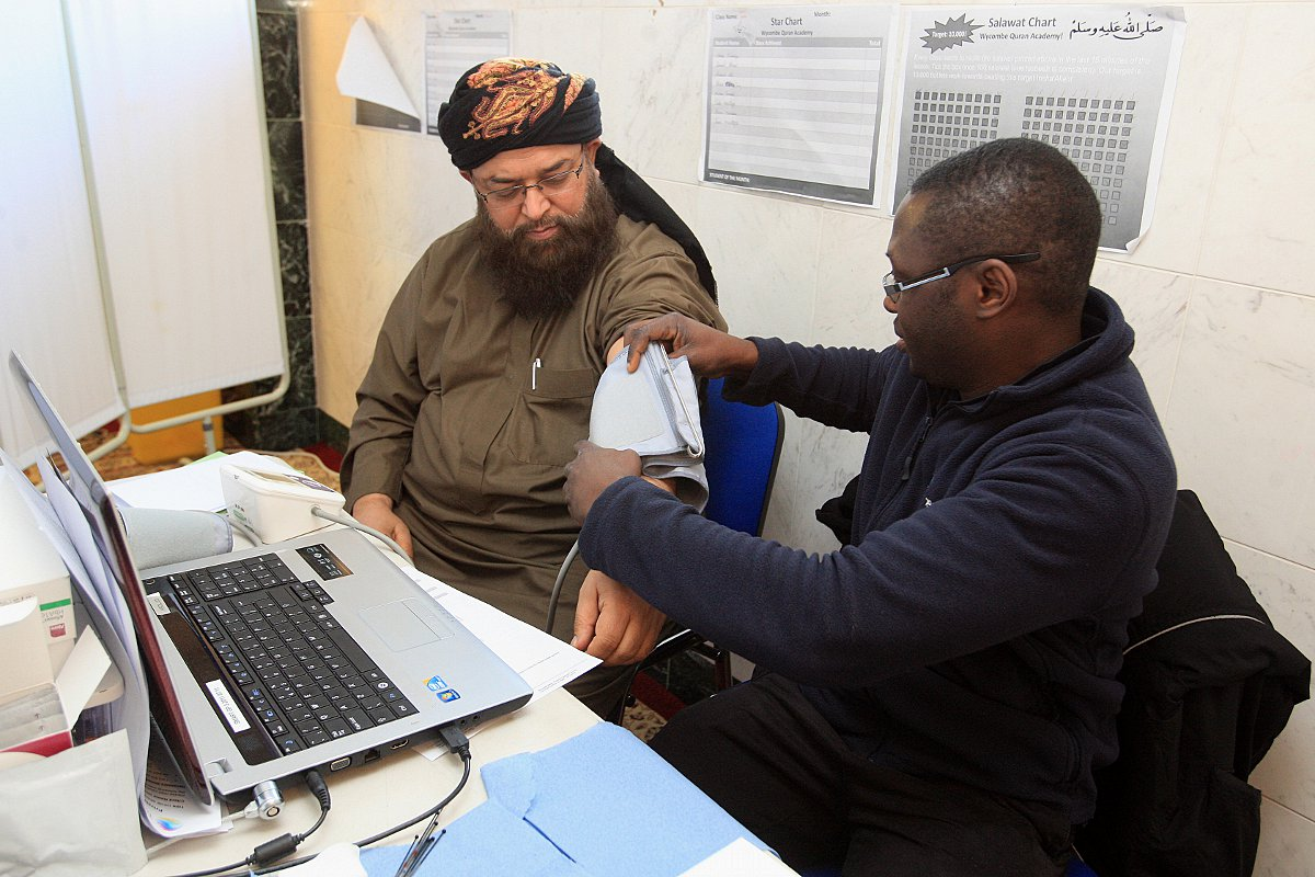 Health check drive comes to Wycombe mosque