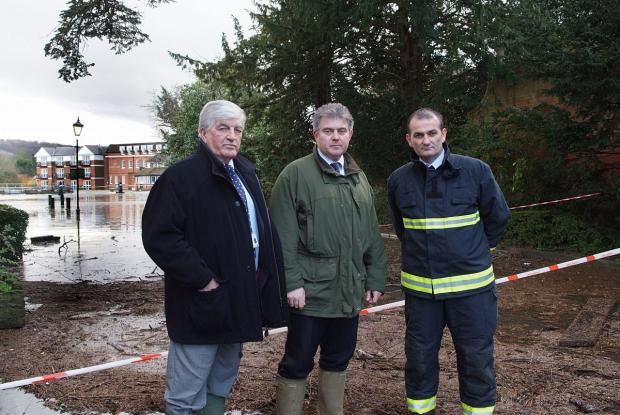 Cllr Richard Scott meets government minister Brandon Lewis and Bucks Fire and Rescue's Chief Operating Officer Jason Thelwell yesterday