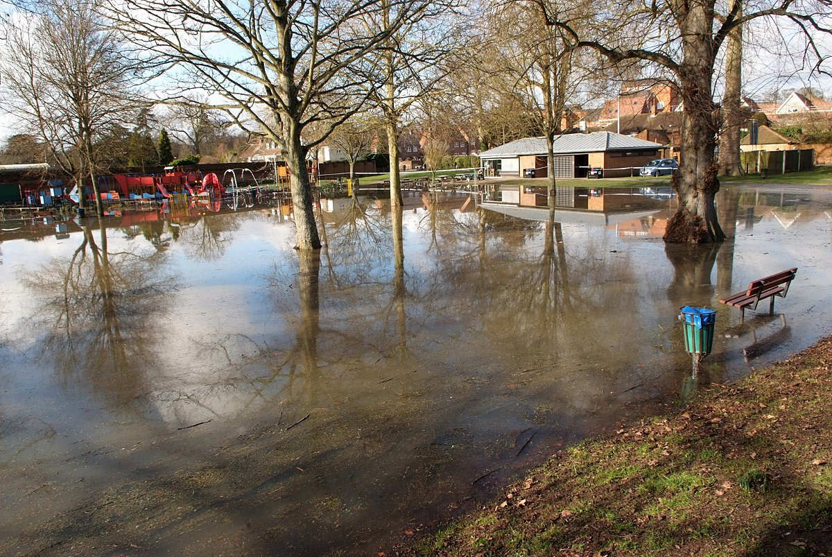 Flood water being treated as contaminated in Marlow