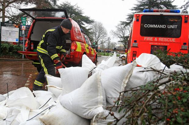 Marlow Town Council hosted an incident command unit in February to help deal with the flood relief effort