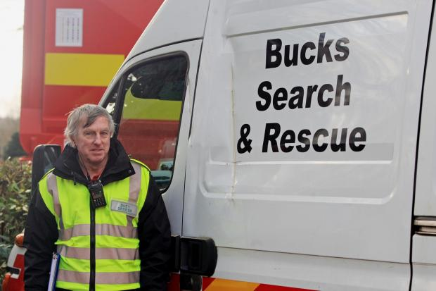 Search manager Brian Bristow with the damaged van
